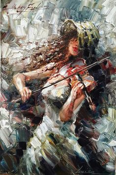 Andrey Figol - gallery of works, the paintings of Andrey Figol Music Painting, Music Artwork, Art Music, Peony Painting, Music Drawings, Art Drawings, Musik Illustration, Violin Art, Portrait Art