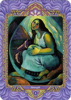 VIII - La force (la force) - Tarot triple déesse par Isha Lerner & Mara Friedman