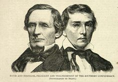 Davis and Stephens, President and Vice-President of the Southern Confederacy an illustration from the February 23, 1861 edition of Harper's Weekly.