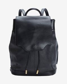 rag & bone Pilot Leather Backpack:Black Style# W236100CA-BLK $725.00