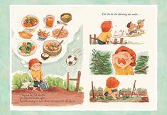 San's little garden Children's Book Illustration, Character Illustration, Illustration Children, Storyboard, Francis Picabia, Art Drawings For Kids, Children's Picture Books, Cartoon Art, Book Design