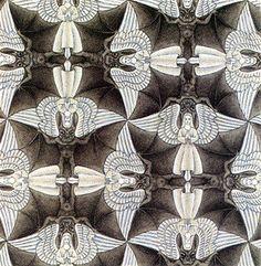 Anges et démons . Escher.