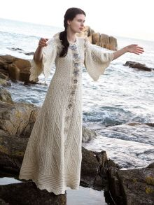 Fantasy Aran Dress from West End Knitwear's Aran Craft collection 2016 by NATA. Knit Skirt, Knit Dress, Knitting Designs, Knitting Patterns, Summer Knitting, Vestidos Vintage, Crochet Patterns For Beginners, Loom Knitting, The Dress