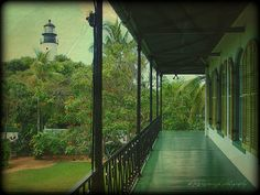 "Hemingway's Key West Home. The lighthouse gave Hemingway the ""light"" home after a night at Sloppy Joe's bar."