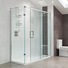 Nowadays, more and more people are using sliding glass shower doors. Sliding glass shower doors are apt for bathrooms that are compact and small in size. Sliding Glass Door, Shower Cubicles, Glass Shower Doors, Glass Bathroom, Bathroom Shower Doors, Shower Doors, Amazing Bathrooms, Bathroom Design
