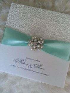 Handmade Pearl Cluster Wedding Invitation by StylishStationery Wedding Invitation Samples, Invites, Ribbon Colors, Pearl Earrings, Paper Crafts, Colours, Trending Outfits, Unique Jewelry, Handmade Gifts