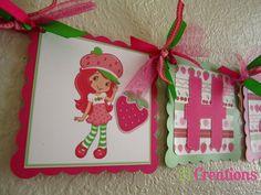 Strawberry Shortcake Birthday Banner. $35.00, via Etsy.