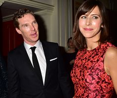""""""" Benedict Cumberbatch and Sophie Hunter backstage at the Evening Standard Theatre Awards """""""