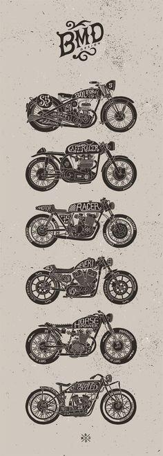 Мото рисунки: Типы мотоциклов! / Блог им. Varklap / БайкПост