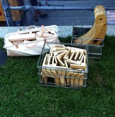 High Line Children's Workyard Kit--collection of wooden planks, wheels, pulleys, wing bolts and rope