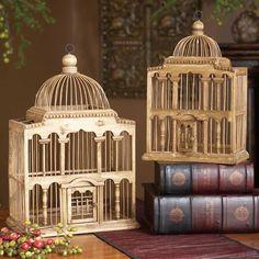 Capitol Decorative Birdcage - Wedding Table Centerpiece - Wooden Birdcage card holder Upstairs Bathroom