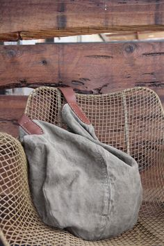 Custom Order for Norma - The Driftwood Slouch - Handcrafted Vintage Belgian Linen Bag