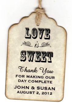 50 Wedding Favor Gift Tags / Ort Karten begleiten von luvs2create2