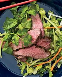 Grilled Lamb Salad with Cumin Vinaigrette  Pairing: A big Trappist ale like Chimay Blue