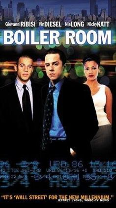 Boiler Room starring Giovanni Ribisi, Vin Diesel. An ambitious, intelligent college dropout takes a job at a small stock brokerage firm, where he meets with great success. But when he learns that the company is selling worthless securities to gullible buyers, he realizes the cost of his ambitions. Amazon Affiliate Link.