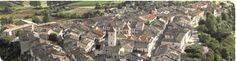 Vue aérienne de Lauzerte