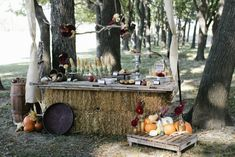Hay Bale Candy Buffet Credit: Ruffled Blog
