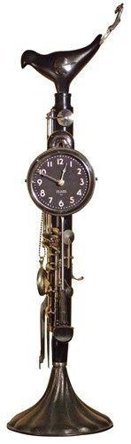 Steampunk clarinet clock