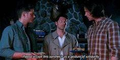 spoilers supernatural dean winchester sam winchester castiel Jensen Ackles Misha Collins mystuff Jared Padalecki Gifs:supernatural 7x23