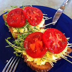 This looks yummy and healthy... with 100% whole wheat/grain toast, of course.