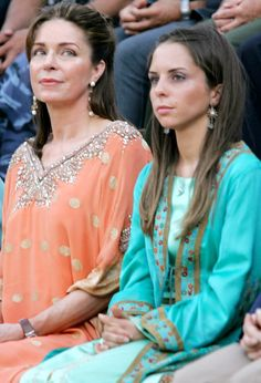 Queen Noor of Jordan and her daughter Princess Iman bint Al Hussein,