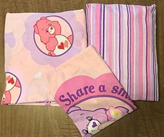 """Care Bears Vintage 3 Piece Twin Sheet Set Flat, Fitted, Case """"Share Some Love""""    eBay"""