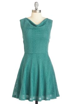 Demure Gonna Go Far Dress. Inspire everyone you meet with your soaring sophistication in this muted teal frock. #green #wedding #modcloth