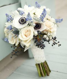 Sweet blooms with a touch of something blue.