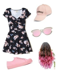 """Pink Break 🌸😛"" by charlisebenjamin on Polyvore featuring Hollister Co., Novesta and Amici Accessories"