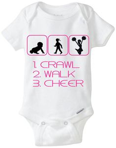 """Funny Silhouette Baby Girl Gift: Gerber Onesie brand body suit Crawl Walk Shop"""" - Perfect new baby gift for Shopaholic Mama! New Baby Girls, Baby Girl Gifts, My Baby Girl, Baby Silhouette, Silhouette Cameo, Funny Babies, Cute Babies, Future Baby, Future Daughter"""