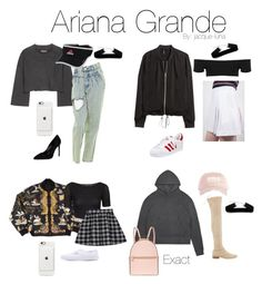 """""""Ariana's style recently is everything"""" by jacque-luna ❤ liked on Polyvore featuring Yves Saint Laurent, adidas Originals, Hermès, Topshop, Stuart Weitzman, Fila, adidas, Henri Bendel, Vans and Stealherstyle"""