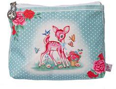Pink deer make-up bag by Wu & Wu - $25