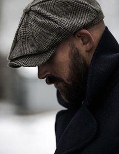 vind-ik-leuks, 23 reacties - Robin F News Boy Hat, Flat Cap, Collar Styles, Mens Caps, Gentleman Style, Modern Man, Beard Styles, Men Looks, British Style