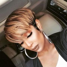 Mixed Brown Short Pixie Wigs For Black Women Natural Looking Synthetic – GBWig Short Black Hairstyles, Short Hair Cuts, Pixie Cuts, Pixie Cut Wig, Pixie Bob, Short Pixie Wigs, Curly Short, Hair Colorful, Curly Hair Styles