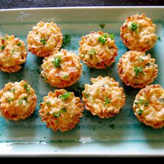 Crab tartlets appetizer