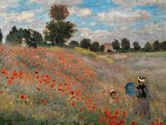 Monet Paintings, Landscape Paintings, Abstract Paintings, Echo Art, Monet Poster, Monet Wallpaper, Wild Poppies, Impressionist Paintings, Western Art