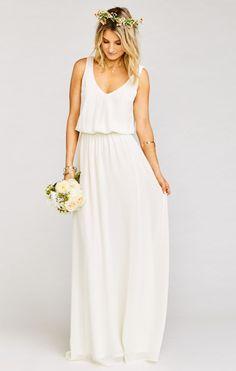 Kendall Maxi Dress ~ Wedding Cake Chiffon    Show Me Your MuMu