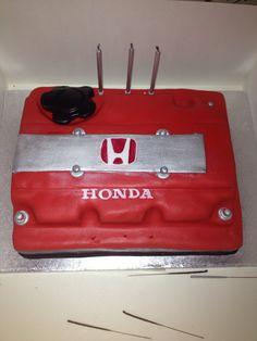 Honda engine valve cover birthday cake