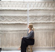 XXL Macrame Wall Screen / Modern Macrame / Wall by TeddyandWool