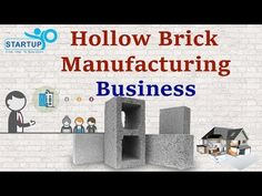 Hollow Brick Manufacturing Business | StartupYo | www.startupyo.com - YouTube Math Pages, Concrete Bricks, Construction Business, Brick And Stone, Maths, Youtube, Youtubers, Youtube Movies