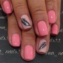 Cute Feather Nail Art Designs Ideas18