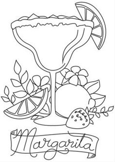free margarita coloring pages - photo#34