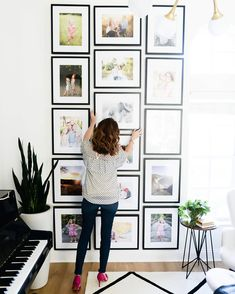 Gorgeous floor-to-ceiling gallery wall.