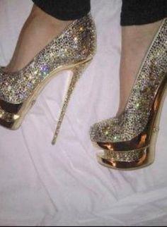 Glitter Rhinestone High Heel Shoes, Shoes, andre nicole Rhinestone Pumps, Chic