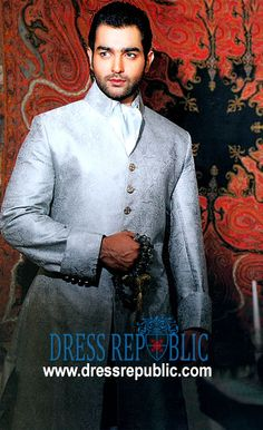 Style DRM1032, Product code: DRM1032, by www.dressrepublic.com - Keywords: Aijaz Aslam Sherwani Collection, Aijaz Aslam Sherwani for Men Online Shop