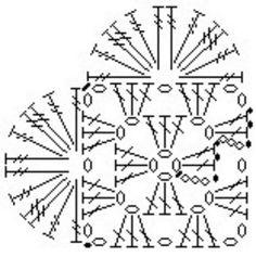 Instagram @roseoliveira_tartes - crochet heart pattern diagram