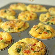 Scrambled Egg Breakfast Muffins Recipe | Yummly
