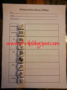 Picture Dice and a {FREEBIE} ~ Adaptable, Flexible, Versatile Speech-Language Therapy #SLPeeps