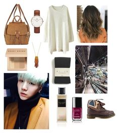 """Rainy day with Suga"" by bts-outfit-imagines on Polyvore featuring Dr. Martens, Bobbi Brown Cosmetics, Daniel Wellington, MICHAEL Michael Kors, Vince Camuto, Chanel, Falke and Victoria's Secret"