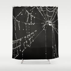 Creepy Gothic Black & White Shower Curtain Goth by InLightImagery